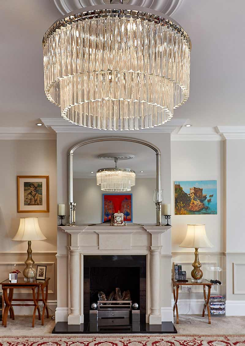 Classic Chandelier Brillante Round Cromato Collection